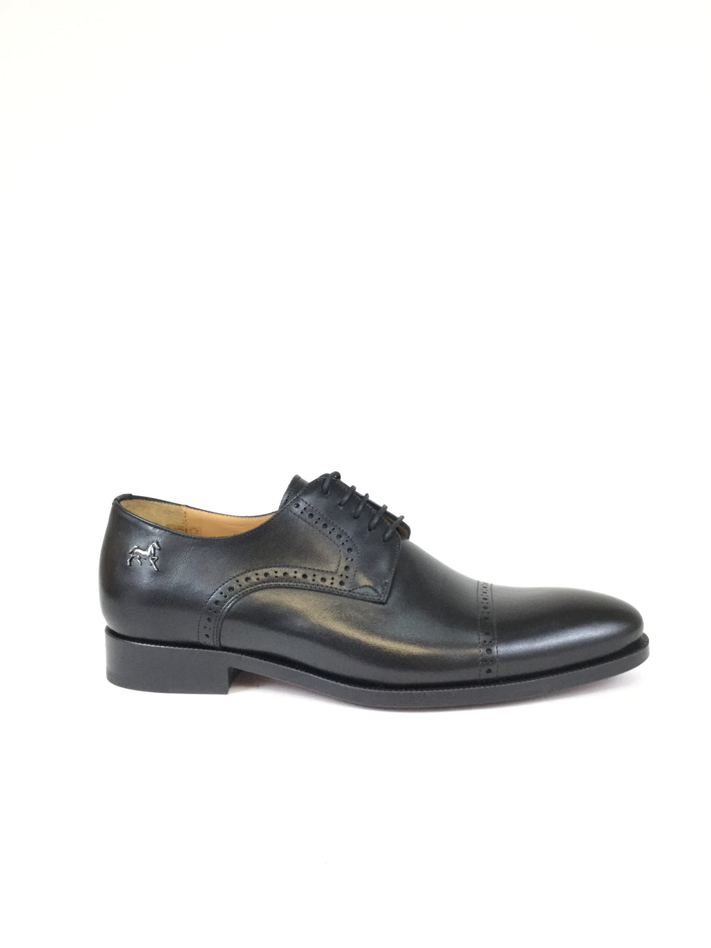 Black Cap Toe Brogue
