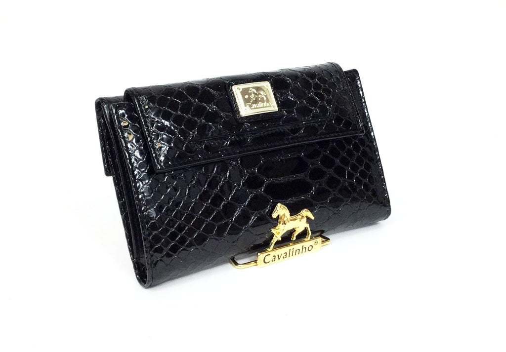 Black Patent Leather Wallet