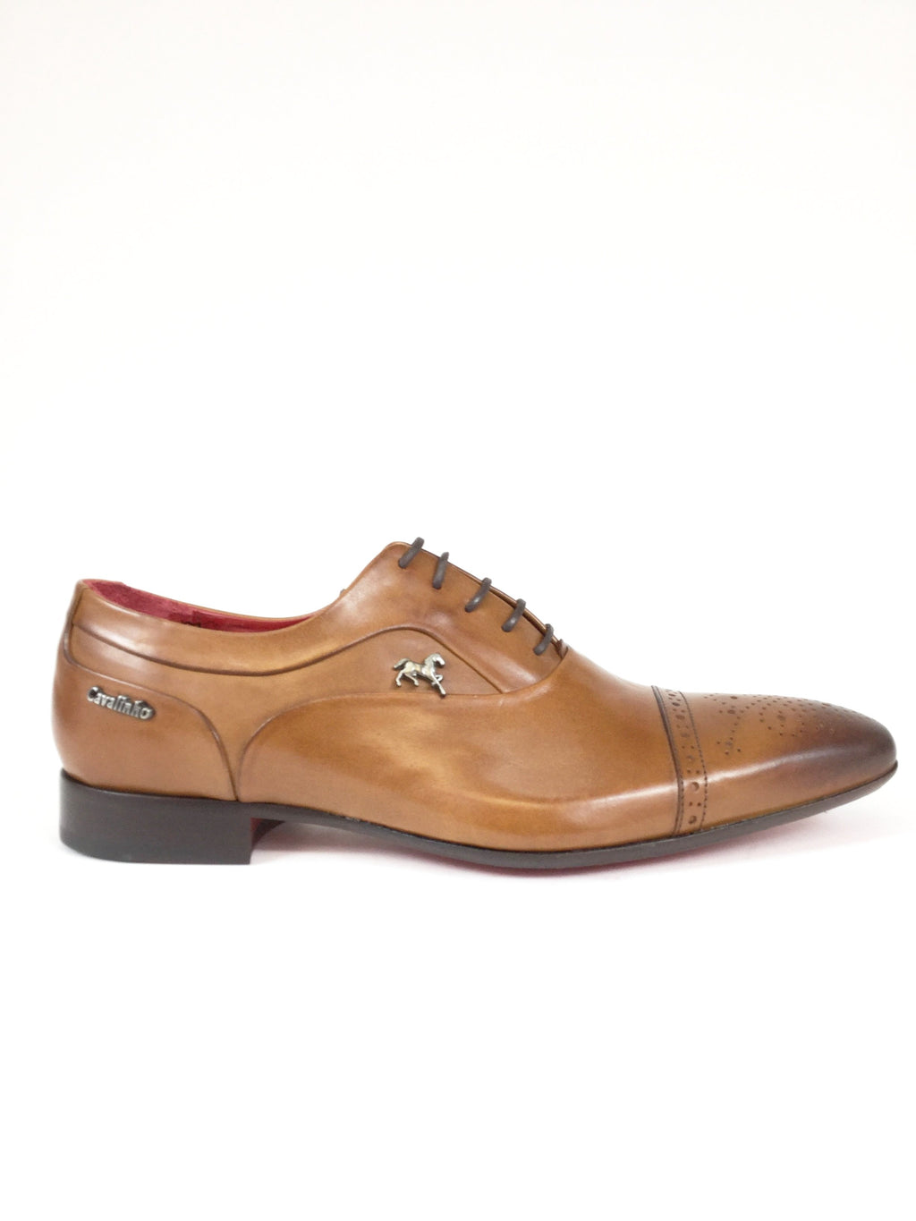 Cognac Toe Cap Oxford Brogue