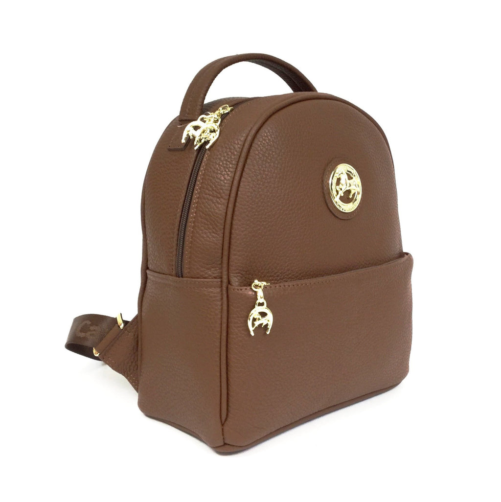 Caramel Leather Backpack