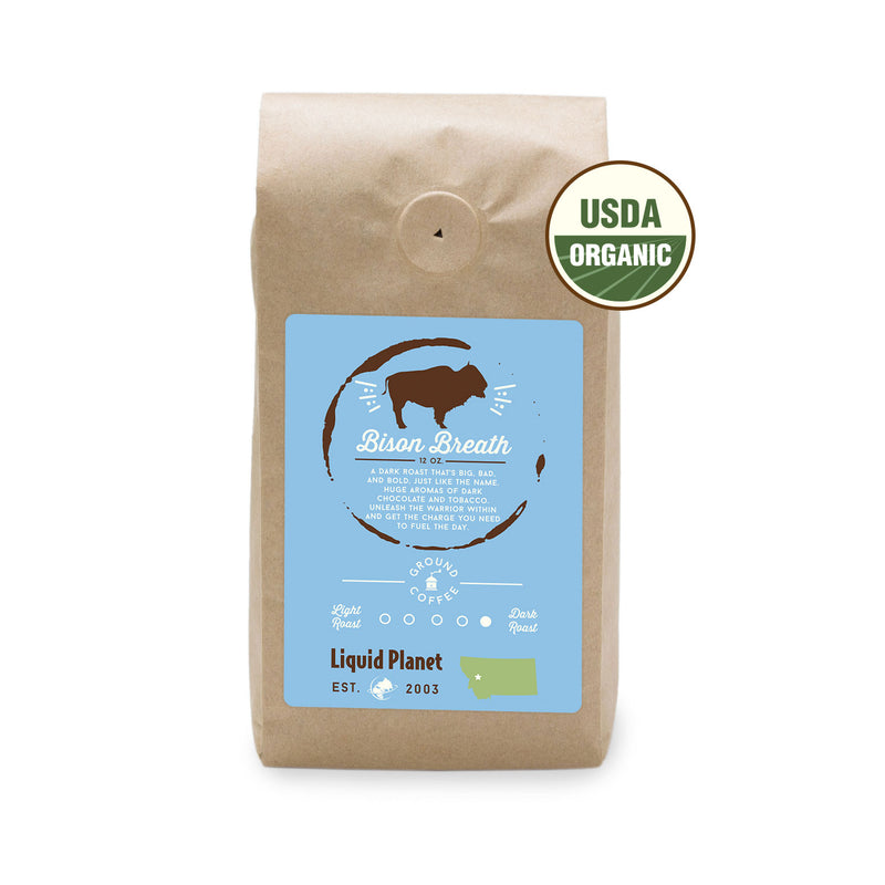 Organic Coffee Dark Roast - Bison Breath Coffee