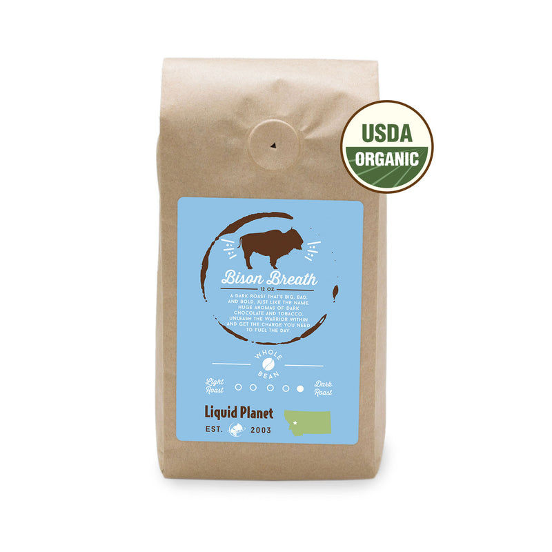 Organic Coffee Dark Roast - Bison Breath Coffee Locally Roasted
