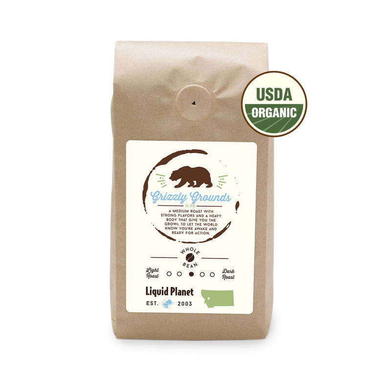 Grizzly Grounds Organic Coffee - Locally Roasted Missoula