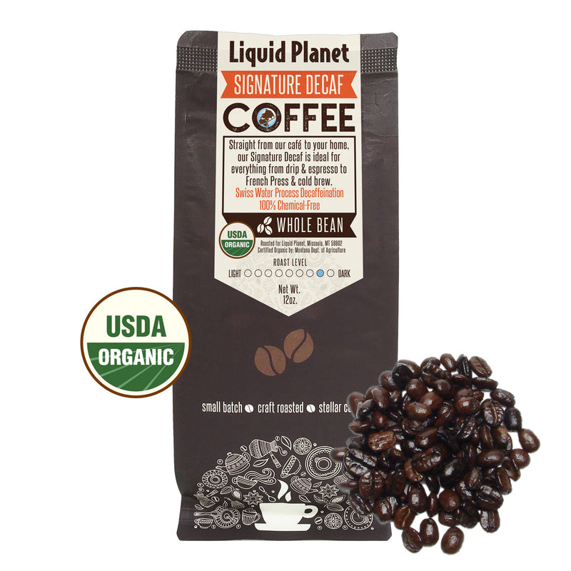 Organic Coffee - Liquid Planet Signature DECAF Whole Bean