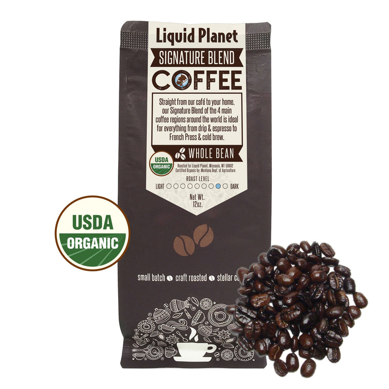 Organic Coffee - Liquid Planet Signature Whole Bean