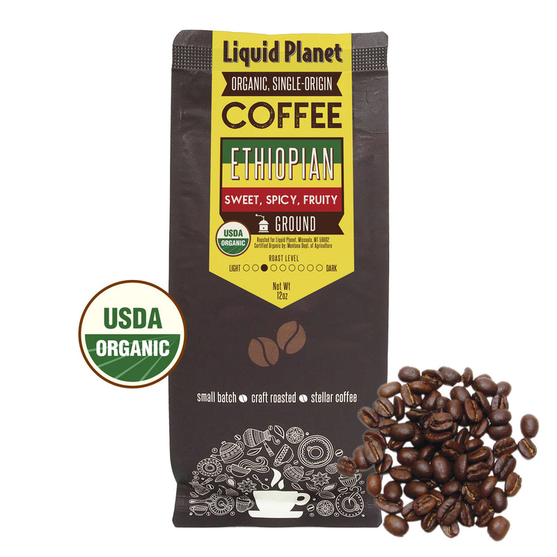 Organic Ethiopian Coffee Ground