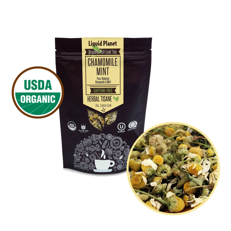 Liquid Planet Organic Tea ~ Chamomile Mint
