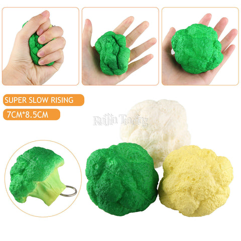 Broccoli Squishy Keychain