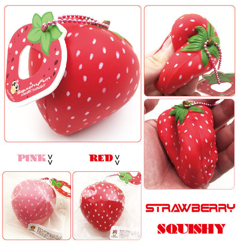 Strawberry Squishy Keychain
