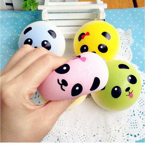 Colourful Panda Bun Squishy