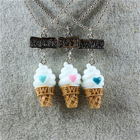 Set of 3 Best Friends Forever Ice Cream Cones