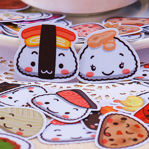 40 Rice Dumpling and Sushi Stickers