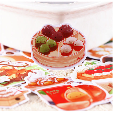 30 Cute Snacks Stickers