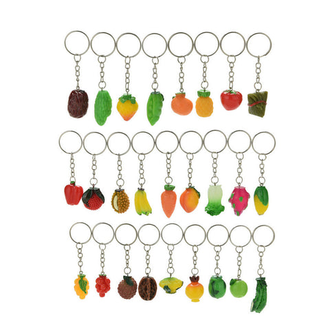 Random Fruit or Vegetable Keychain
