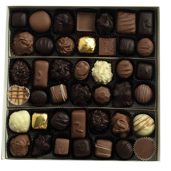 1 1/2 pound boxed milk and dark assorted chocolates