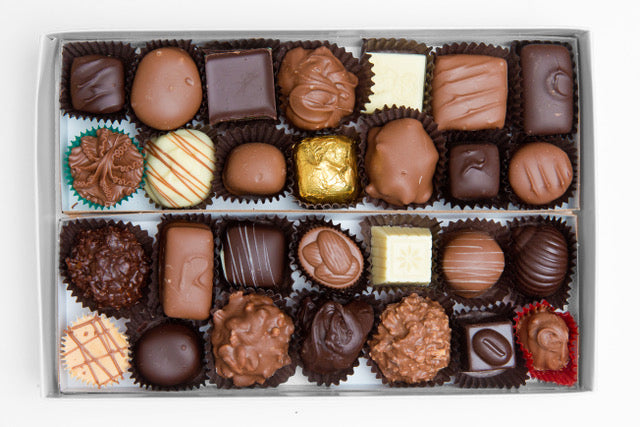 1 pound box of assorted chocolates