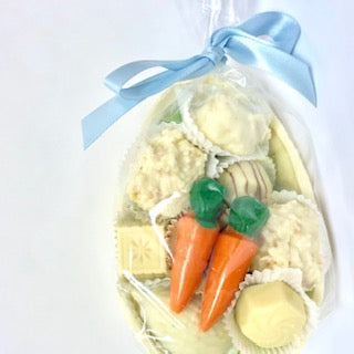 White Shell with White Chocolates and Carrots