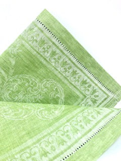 Harmony Spring Green, Tea Towel, Linen