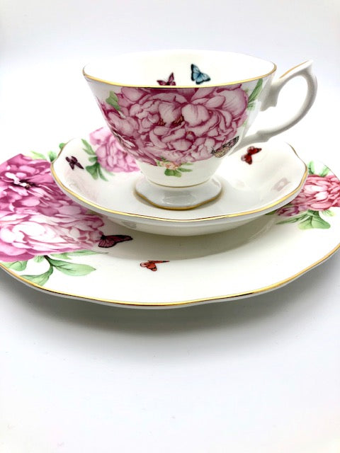 Royal Albert Tea Cup, Saucer and Plate Set - Designed by Miranda Kerr