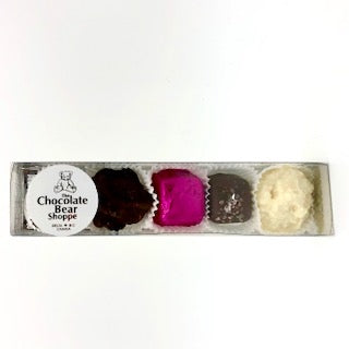 Milk, Dark and White 5-Piece Boxed Assorted Chocolates