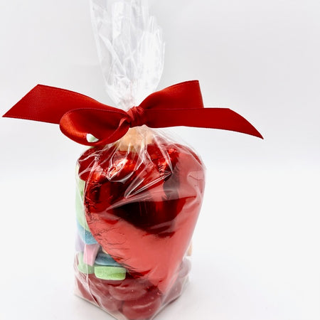 Milk, Treat Bag with Large Chocolate Heart and Mixed Candy