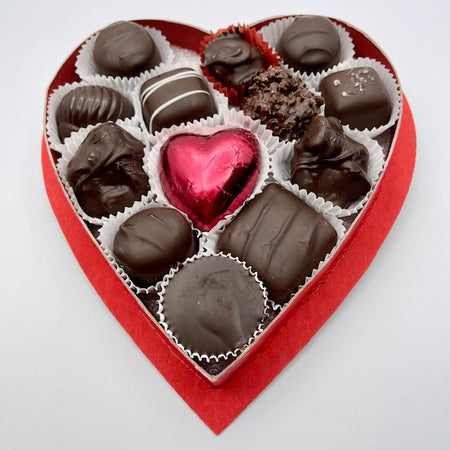 Dark, Medium Chocolate Boxed Heart