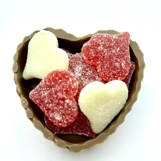 Milk Chocolate Heart with Valentine Gummi Hearts Candy