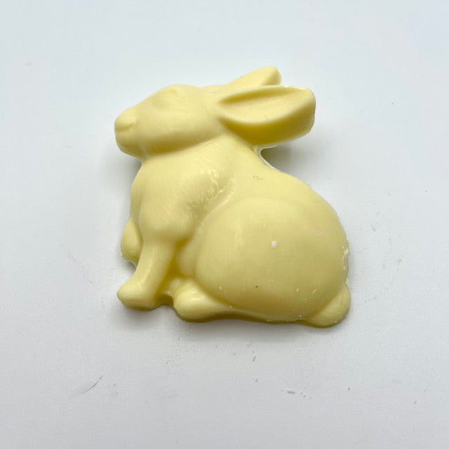 White Sitting Hare