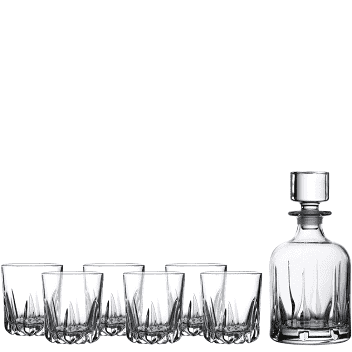 Decanter and 6 Tumblers - Mode Royal Doulton