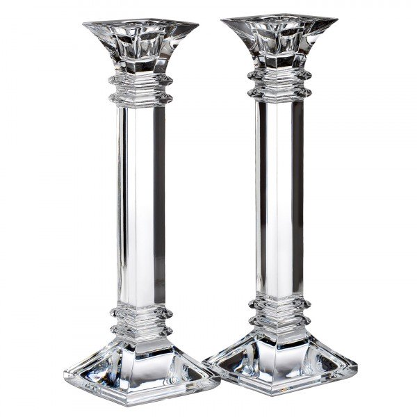 "Treviso 10"" Candlestick, Pair, Waterford"