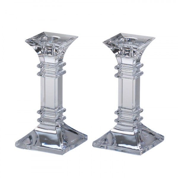 "Treviso 6 "" Candlestick, Pair, Waterford"