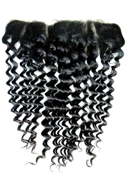 """13 X4"" Brazilian Deep Wave Lace Frontal"