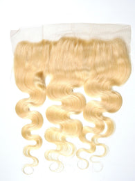 """13 X 4"" Russian Blonde Body Wave Lace Frontal"