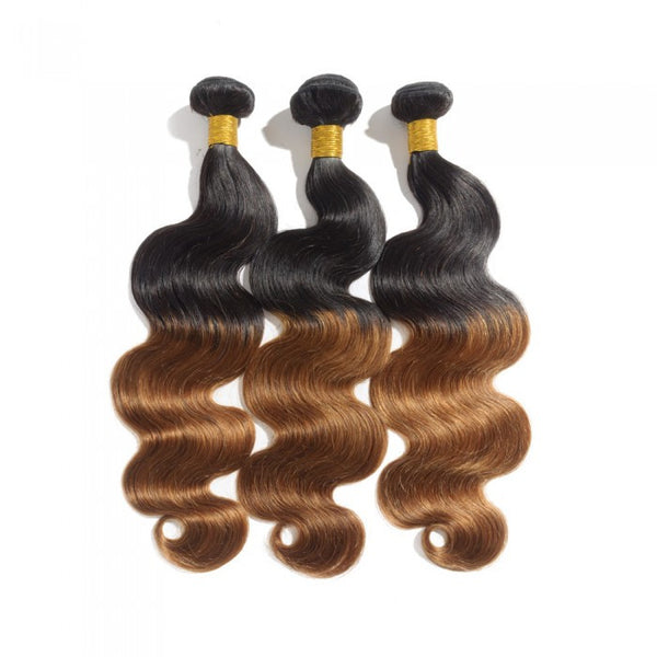 Ombre  Brazilian Body Wave Hair #1B/30 - WeavXtensions