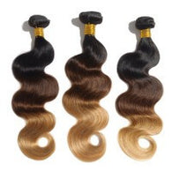 Ombre 3 Tone Brazilian Body Wave Hair 1B/4/27 - WeavXtensions