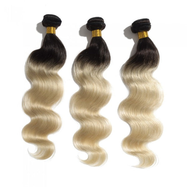 Ombre Brazilian Body Wave Hair #1B/613 - WeavXtensions