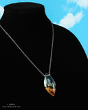 magical future space cosplay jewelry, resin and wood necklace