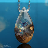Purple Sea Terrarium Teardrop Pendant