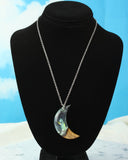 cut branch jewelry necklace, wood and resin jewelry handmade in the usa