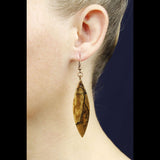 cut branch wood dangle earrings hippy earrings