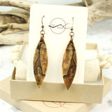 handmade wood dangle earrings