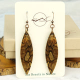 cut branch jewelry, wood dangle earring packaging gift box