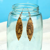 unique wood dangle earrings, one of a kind jewelry