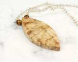 boho wood necklace japanese maple wood
