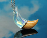 fantasy crystal moon pendant, wizardess cosplay larping gear