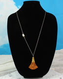 long wood pendant necklace, beautiful wood jewelry