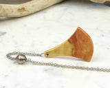 reclaimed wood necklace pendant, hippy girl jewelry