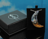 gift box moon celestial necklace, handmade jewelry