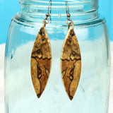 bookmatched wood pattern jewelry, reclaimed spalted maple