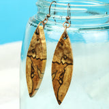 tribal wood earrings, reclaimed handmade jewelry